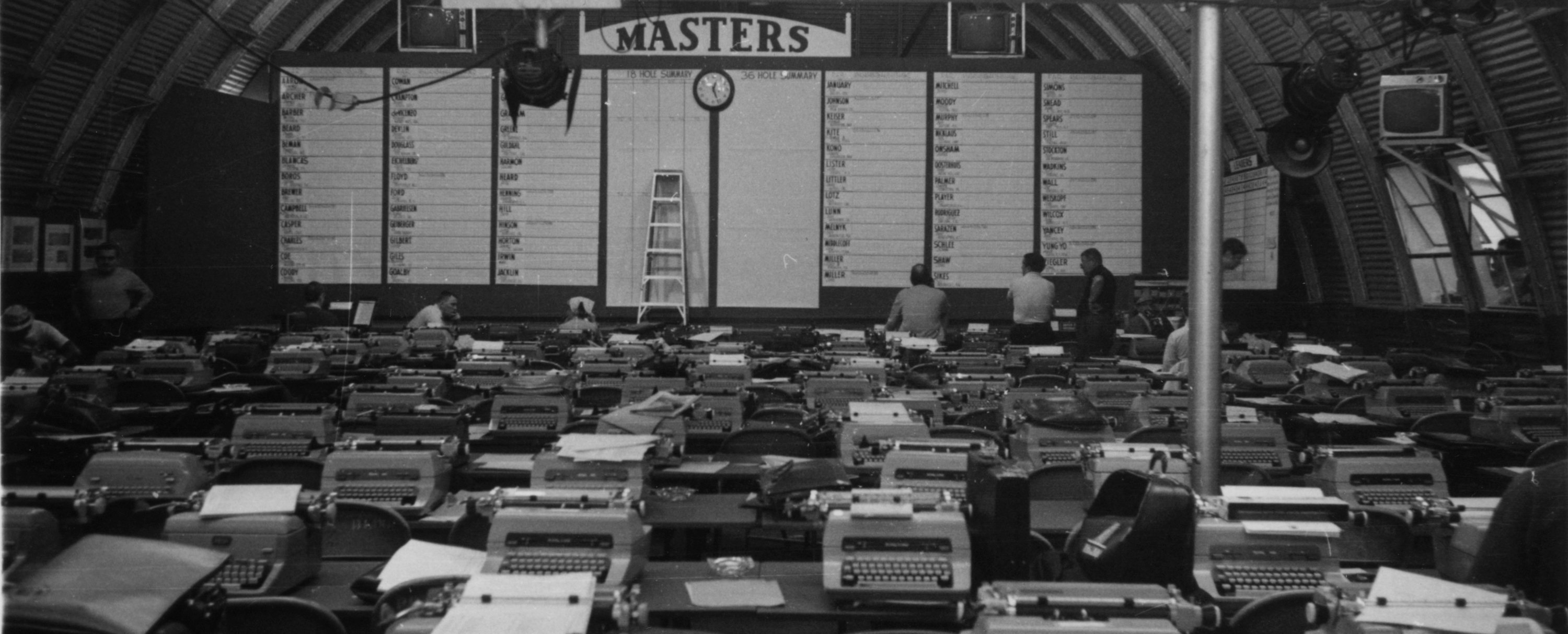 General View Of The Press Building During The Setup Of The 1971 Masters Tournament